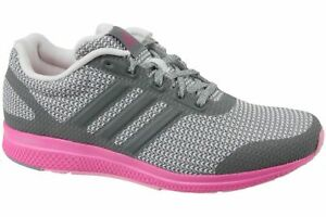 Details about Adidas Women's Mana Bounce Trainers Grey/Pink Casual Running Shoes AF4116 new
