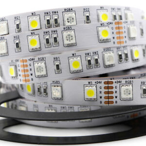 Details About 5m 5050 Smd 300 Led Tape Lamp Rgbw Rgb White Strip Lights Waterproof 12v 24v