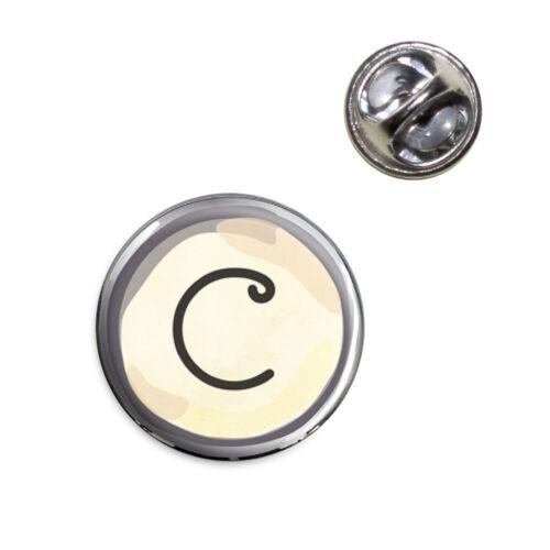 Letter C Typewriter Key Lapel Hat Tie Pin Tack