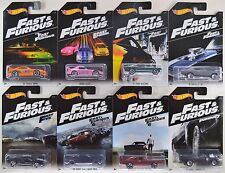 HOTWHEELS 2016 FAST AND FURIOUS SET WALMART EXCLUSIVE ALL 8 COMPLETE SET