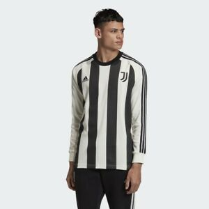 Details about 2020-21 Adidas Juventus soccer Long Sleeve Icons Jersey FR4216 New