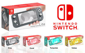 NEW-NINTENDO-SWITCH-LITE-HANDHELD-CONSOLE-UK-PAL-TURQUOISE-YELLOW-GREY-CORAL