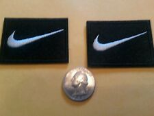 """2 - NIKE PATCH LOT  Logo PATCH embroidered iron on Patches   patch 2"""" x 1.5 Nice"""