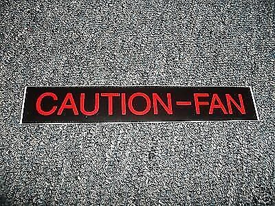 AIR CONDITIONING COMPRESSOR CAUTION DECAL 1962 1963 1964 1965 CHEVROLET ALL