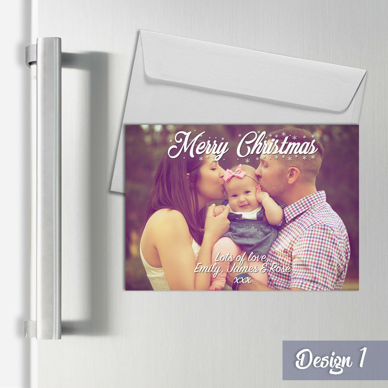 Personalised Magnetic Photo Christmas Postcard Cards   Xmas A6 Fridge Magnets