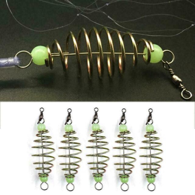 5 Stück Drahtfischer Feeder Schwimmfeder Feeder 8cm G4L3