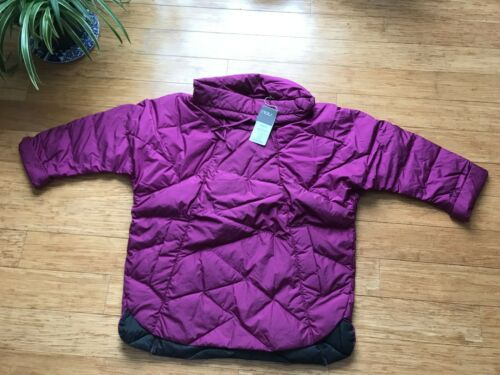 L NWT $300 NAU womens pull over cowl neck Down Jacket coat 650 fill DWR  2XS