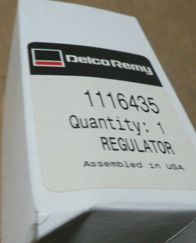 GENUINE DELCO REMY REGULATOR 1116435 D687