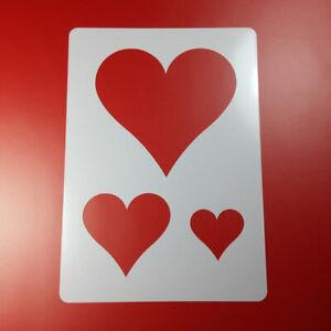 A4 Schablone Herz Heart 3 Herzen Ba497 Ebay
