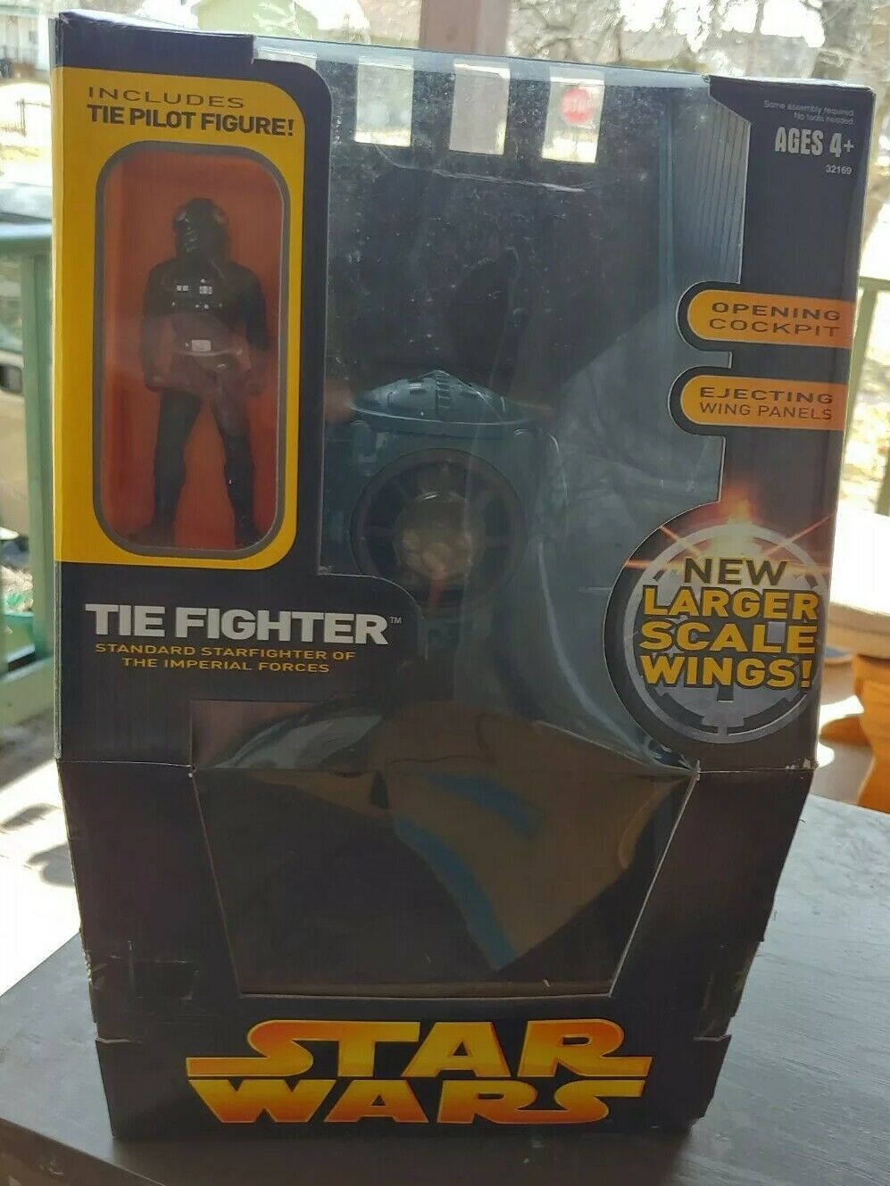 Star Wars ROTS large scale wing TIE Fighter w  pilot MISB Revenge of the Sith