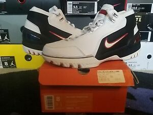 91219eb8ea1b0 Nike Air Zoom Generation LeBron James Max 1 I White Crimson Black ...