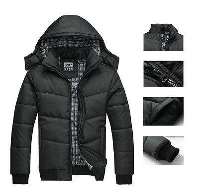 2014 Men's Winter Warm Thicken Stand Collar Jacket Outwear Coat Parka  Black