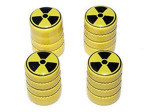Radioactive-Radiation-Tire-Valve-Stem-Caps-Yellow