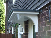 FLAT TOP DRIPROLL GRP DOOR CANOPY  PLUS FREE DELIVERY