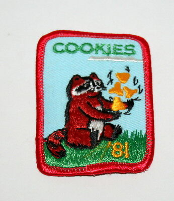 Vintage Blue 1979 Girl Scouts Butterfly Cloth Patch Cookies Sale NOS New