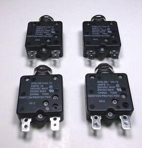 Carling AC//DC Push to Reset Panel Mount 15 amp Marine Grade Circuit Breaker