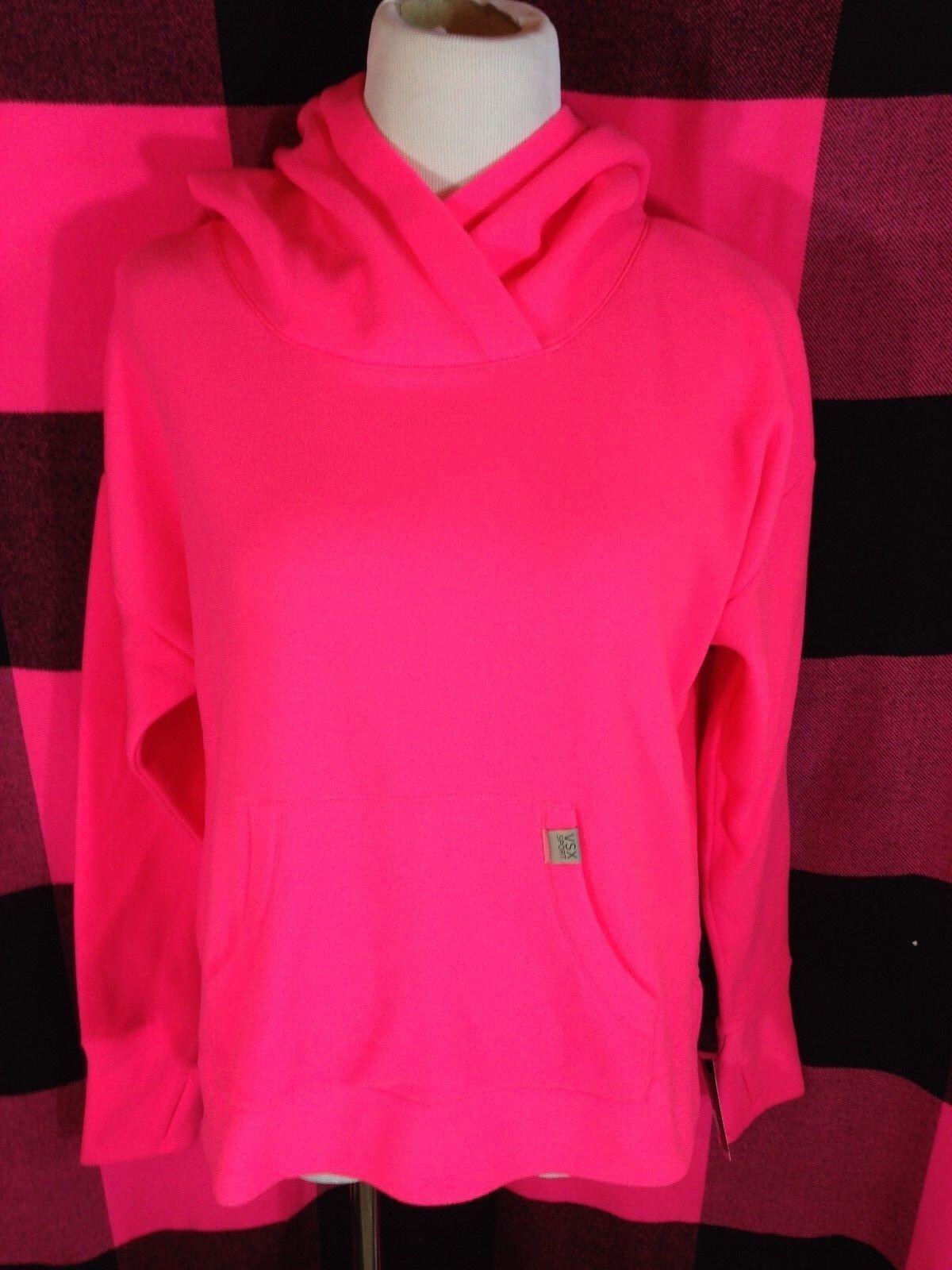 Victoria's Secret VSX Sport Pink Pink Pink Fleece Running Hoodie Athletic Sweatshirt M NWT b4a449