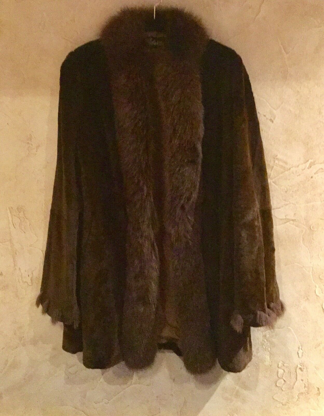 CEDRICS LUXE FUR COLLECTION SHEARED BEAVER & FOX TUXEDO COAT RET  2895 FABULOUS