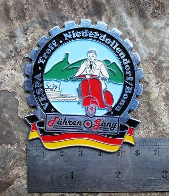 VESPA VINTAGE PLAQUE Plakette PLACCA BADGE Deutsch GS 150 160 SS 90 180 for SALE