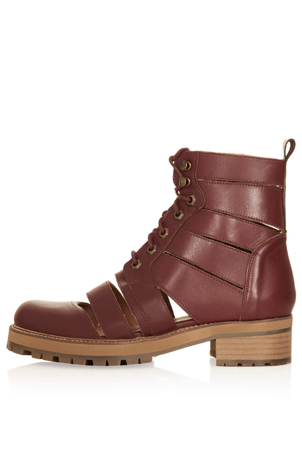 Topshop ANIMATE slashed boots in Bordeaux ( New with box )