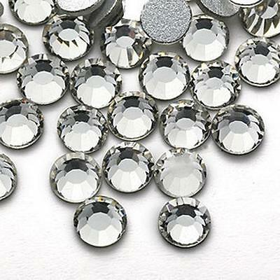 140-1440 pcs White Genuine A++Crystal Beads Flat Back, NOT Acrylic Rhinestone