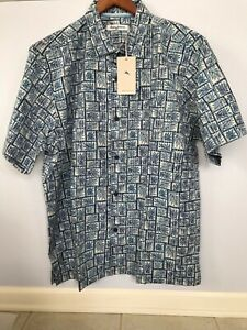 TOMMY-BAHAMA-MENS-SILK-BLEND-TONGA-TILES-BLUE-CAMP-SHIRT-XL-2XL-3XL-NWT-125