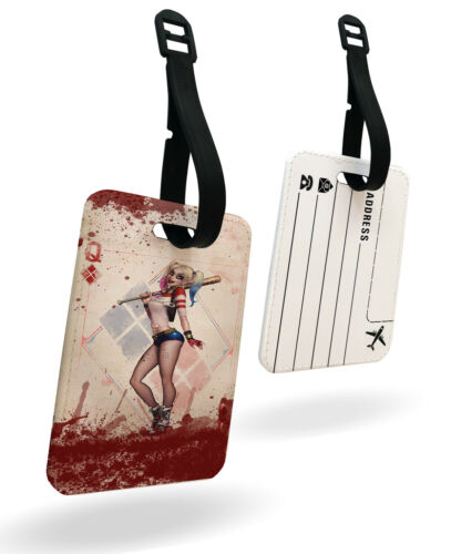 Harley Quinn suicide squad cards queen Travel Passport Cover /& Luggage Tag