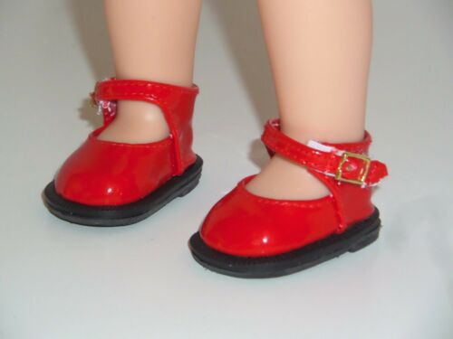 """Red Dress Shoes Fits American Girl 14.5/"""" Wellie Wisher Doll Clothes Shoes"""