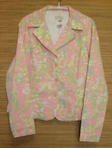 FDJ-French-Dressing-Floral-Denim-Jacket-Size-XL-Long-Sleeve-Button-Front
