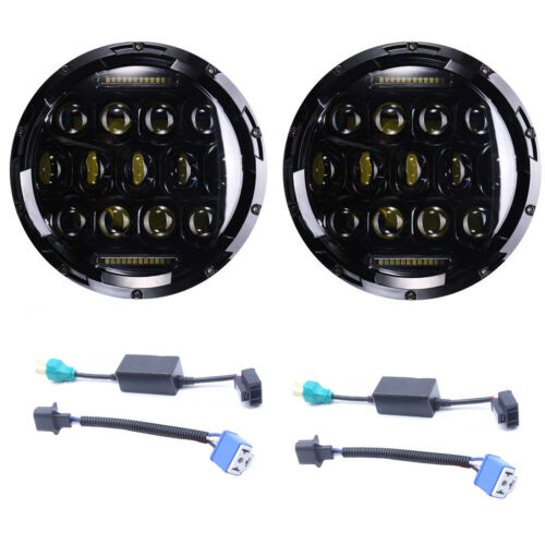 LED Headlight For Chevrolet Camaro 1967-1981 7/'/' inch Round Projector DRL Lights