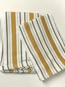 Set Of 4 Williams-Sonoma Purple//Green Striped Dish Cloths