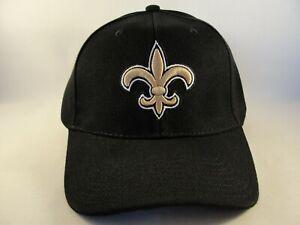 New-Orleans-Saints-NFL-Adjustable-Strap-Hat-Cap-Black