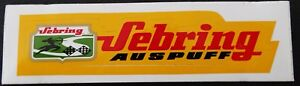 Bumper Stickers Sebring Exhaust Motor Sports Vintage Motorcycle 80er