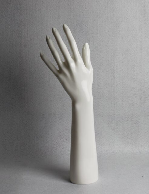 White Left Mannequin Hand for Bracelets Rings Jewelry Stand Display