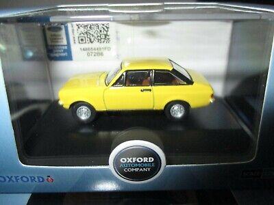 Oxford Diecast 1//76 New OXF 76ESC002 Signal Yellow Ford Escort Mk2