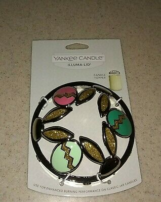 NEW YANKEE CANDLE ILLUMA BUNNY EARS EASTER EGG JAR CANDLE TOPPER ACCESSORY METAL