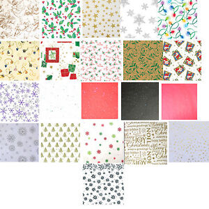 Printed Patterned Tissue Wrapping Paper designer 4 sheets 30 designs u choose