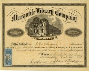 Thomas-Morris-Perot-signed-Philly-Mercantile-Library-Company-stock-certificate