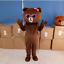 Brown Bear Mascot Costume Suit Cosplay Party Game Dress Outfit Advertising Adult