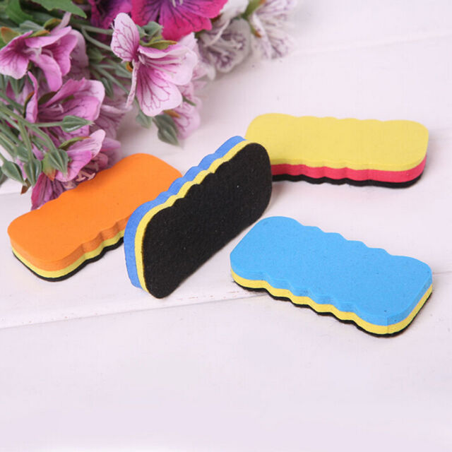 4Pcs Board Rubber Blackboard Whiteboard Cleaner Dry Marker Pen Eraser 6CM Bes SP