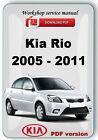 Kia Rio 2005 - 2011 Factory Workshop Service Repair Manual
