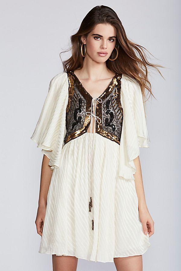 Free People Ivory Moonlight Romance Mini Dress-S- MSRP