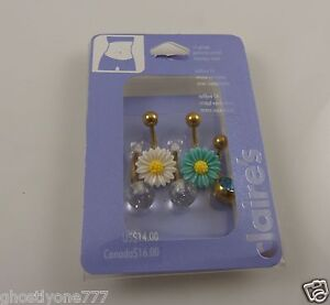 sunflower-daisy-crystal-belly-button-ring-piercing-body-jewelry-5-piece-set