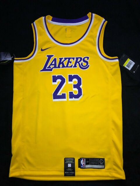the latest a7a2b 4f411 Lebron James Statement Edition Swingman Jersey Lakers Size Small 100  Authentic