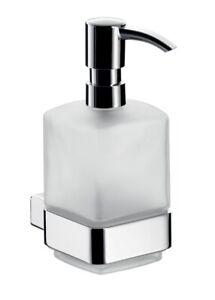 Emco-Loft-Seifenspender-052100101-chrom-Kristall-Glas-satiniert