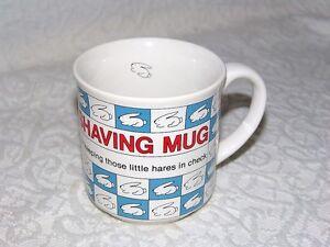 Sandra Boynton Shaving Mug For Keeping Those Little Hares In Check Mug Cup Ebay