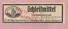 MÜNDEN, Werbung 1919, C. F. Schröder Schmirgelwerk Holzbearbeitung Schleifmittel