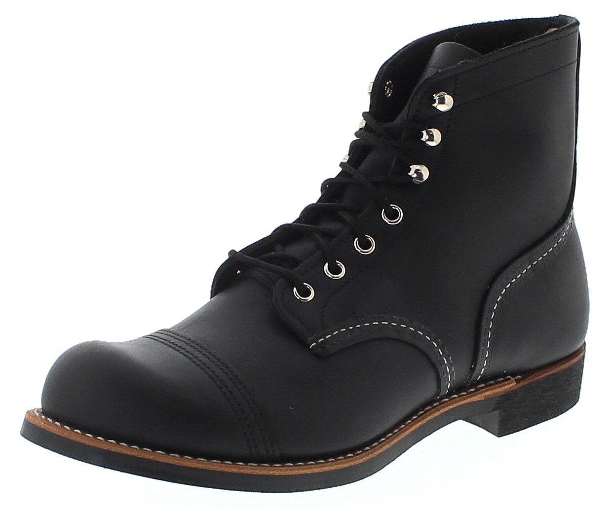 rouge Wing chaussures 8084 Iron Ranger Messieurs délaçage Noir