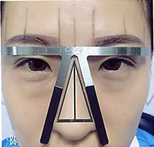 3 Point Permanent Eyebrow Stencil Microblading Measure Makeup Tattoo Ruler Tools