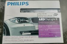 Brand New - PAIR of Philips Car DRL Luxeon LED DAYLIGHT 8 Daytime Running Lights